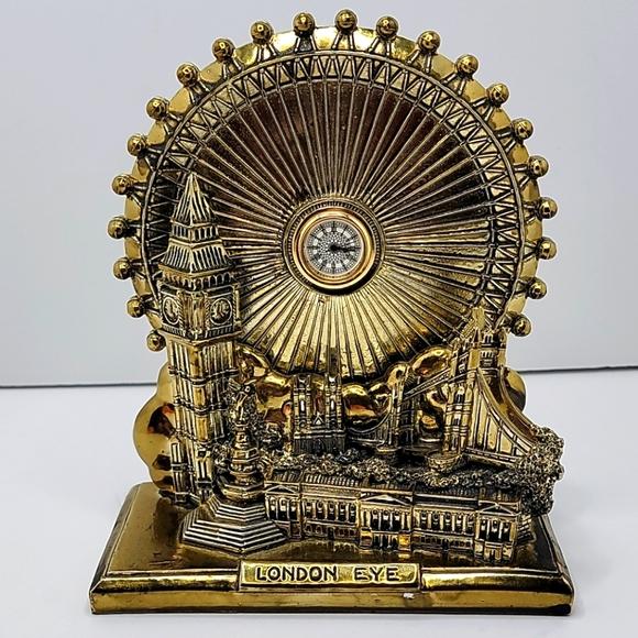 VTG | London Eye | gold collector clock